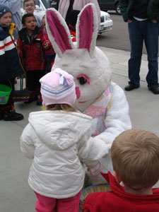 easter bunny visits Fox Creek